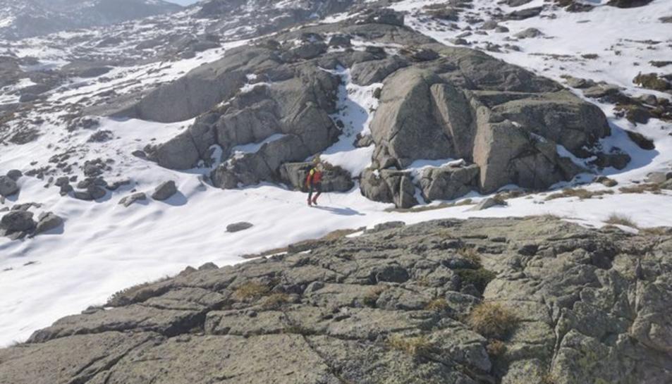 Pla obert on es pot veure una imatge captada des de l'helicòpter de la recerca.