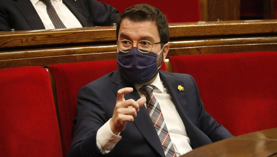 el vicepresident de la Generalitat amb funcions de president, Pere Aragonès