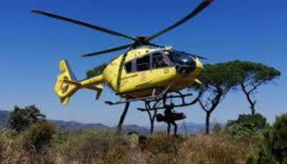 Un ha estat per un excursionista accidentat a Mas Barberans i un altre per dues persones perdudes a Roquetes
