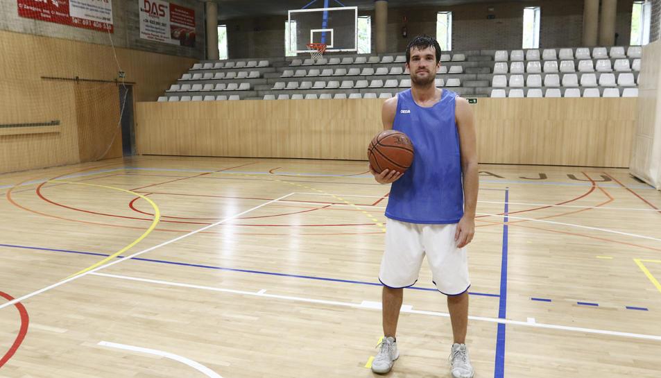 Adrià Baiget, al pavelló de Salou, on buscarà enguany convertir-se en un dels referents.