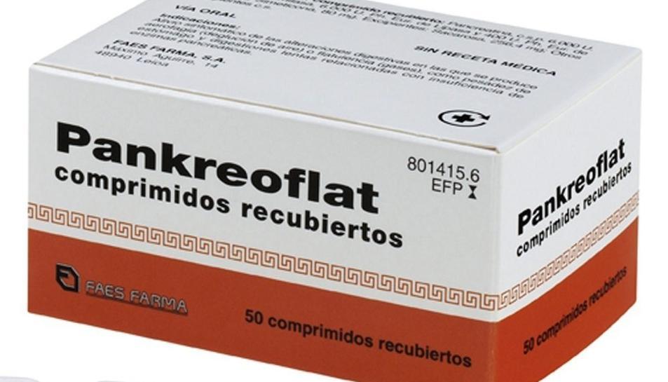 Imatge del medicament, que serveix per a flatulències i digestions pesades.
