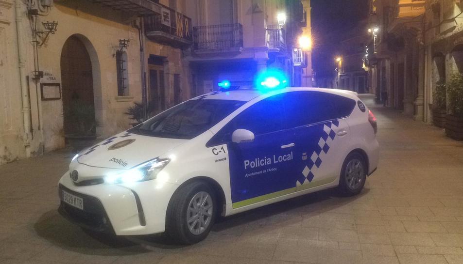 Imatge d'arxiu d'un vehicle de la policia local de l'Arboç.