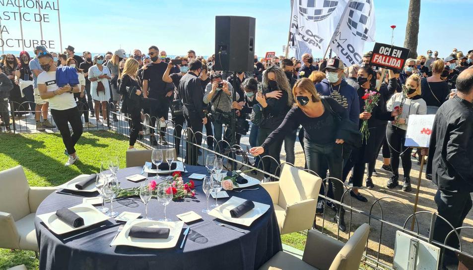 La protesta d'aquest diumenge del Gremi d'Hostaleria de Sitges