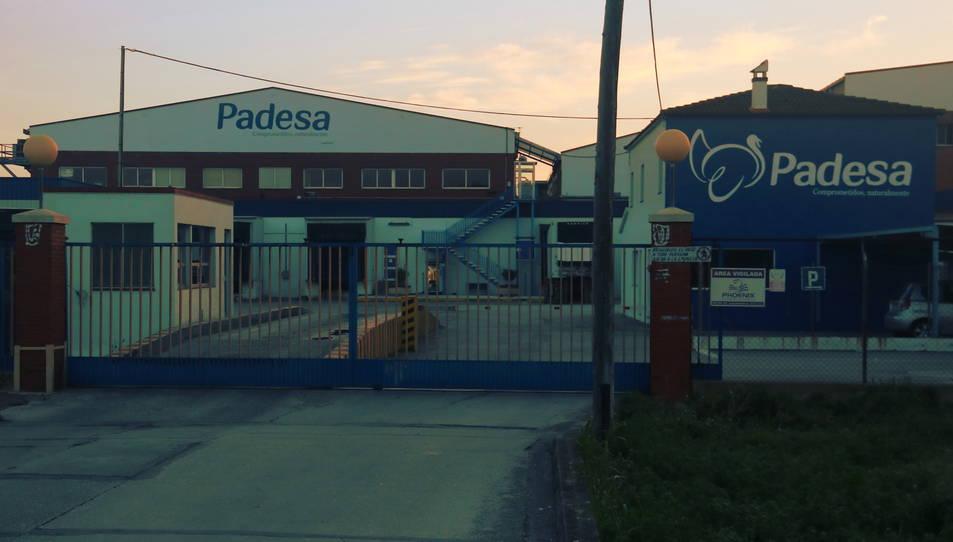 Pla general de les instal·lacions de Padesa a Amposta.