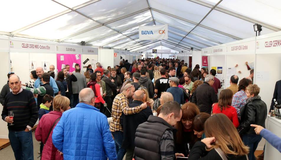 Imatge de la mostra de vins de la Festa del Vi de Gandesa l'any 2018.