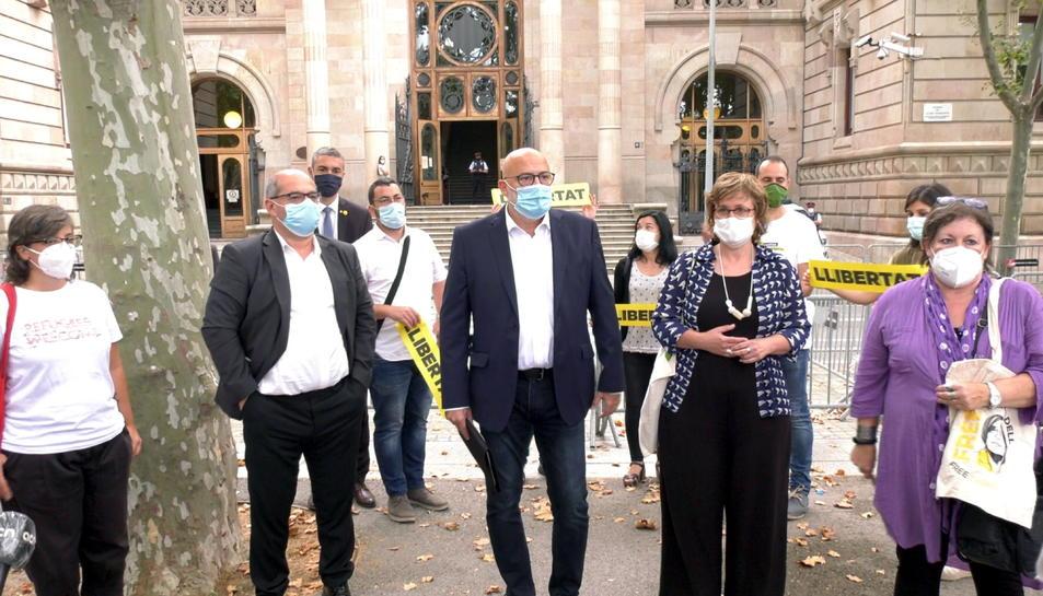 Cinc acusats en el judici contra l'antiga Mesa del Parlament i Mireia Boya, davant del TSJC.
