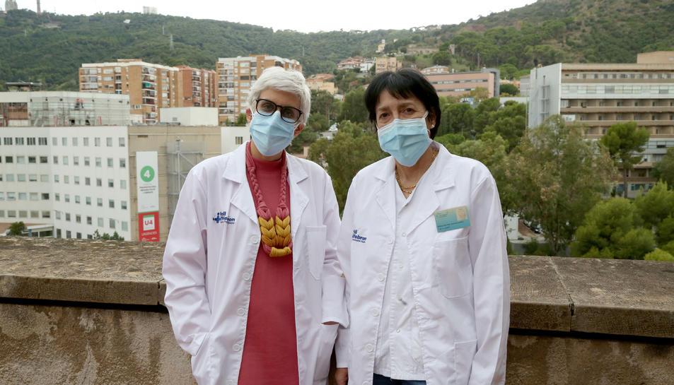 La Dra Concepción Gómez-Gavara, cirurgiana de Vall d'Hebron i investigadora del VHIR, i la Dra Itxarone Bilbao, cap de secció del Servei de Cirurgia Hepatobiliopancreàtica i Trasplantaments, dues de les impulsores de Livercolor.