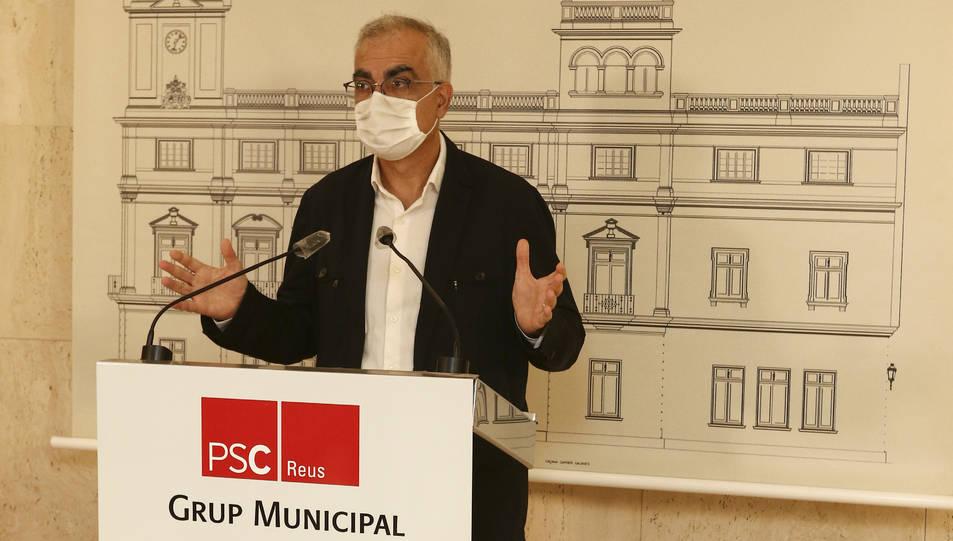 El portaveu del grup del PSC, Andreu Martín, ahir.