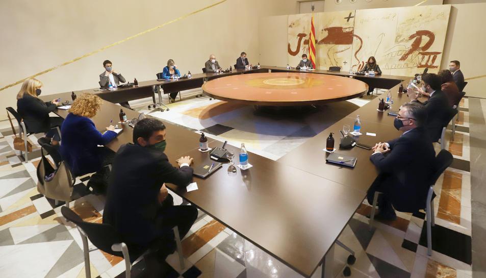 Pla obert de la reunió del consell executiu extraordinari
