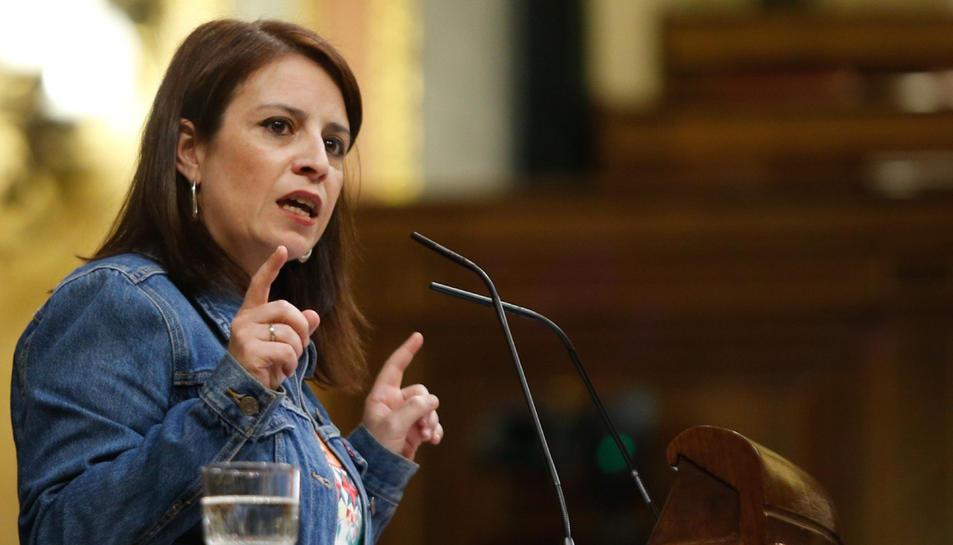 La portaveu del PSOE al Congrés, Adriana Lastra