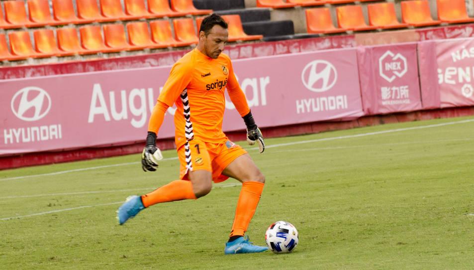 Wilfred, durant el partit de pretemporada contra l'Espanyol B.