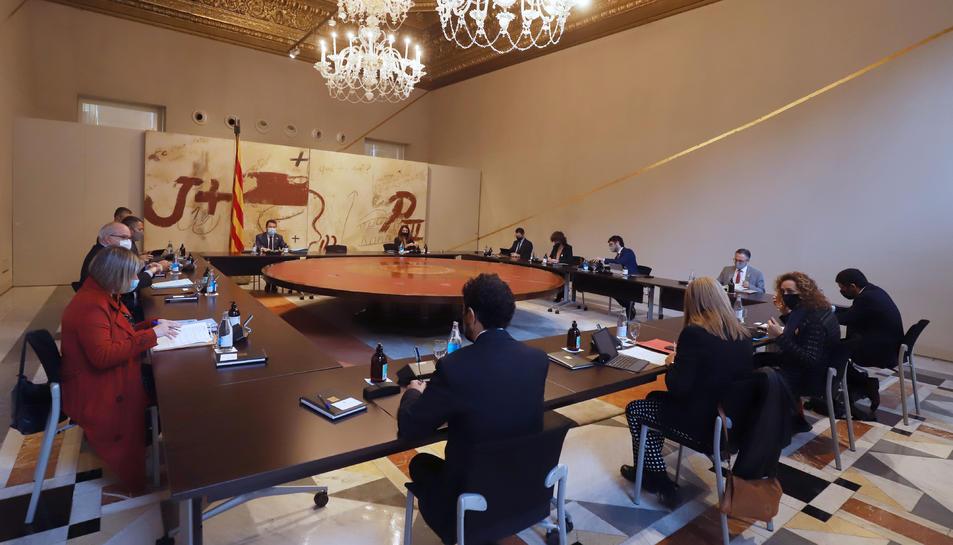 Pla general del Consell Executiu del Govern a Palau.