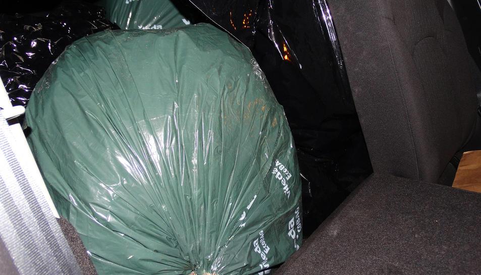 Imatge de la bossa on hi havia la droga.
