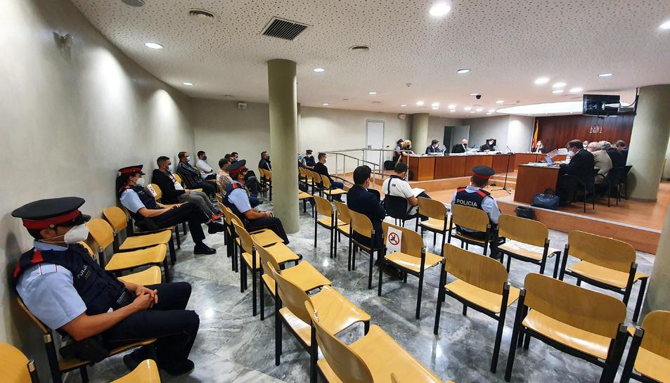 Pla general de la Sala de l'Audiència de Lleida en el judici per tràfic de drogues.