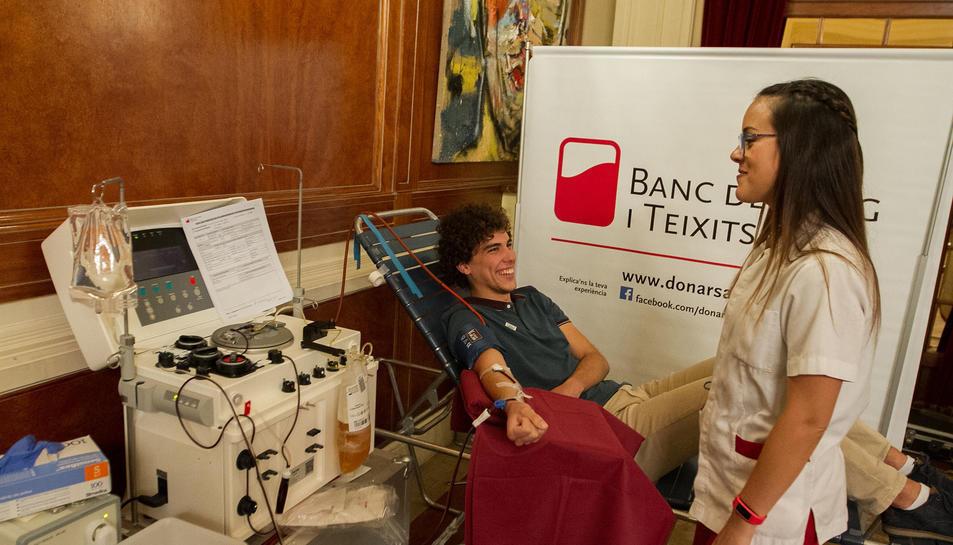 Imatge d'un donant durant l'edició de l'any passat.