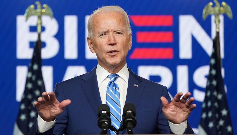 El candidat demòcrata, Joe Biden, durant un discurs