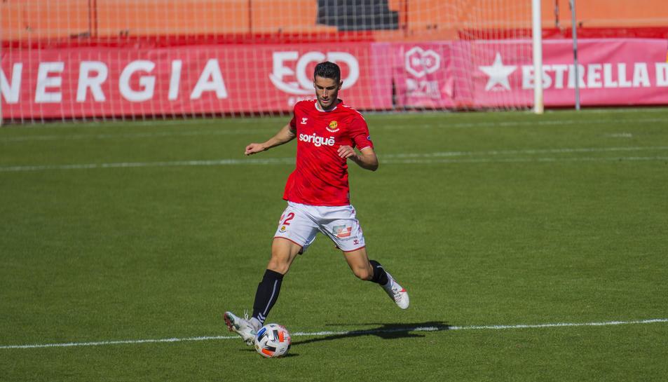 Carlos Albarrán, aquest passat diumenge durant la golejada contra l'Andorra (4-2) abans de ser expulsat amb vermella directa.