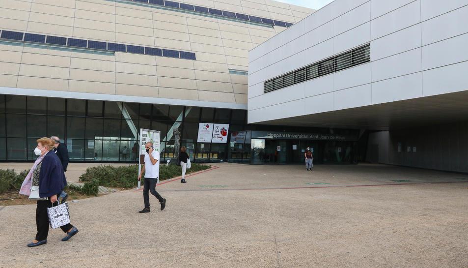 Una imatge d'arxiu de l'exterior de l'Hospital de Reus.
