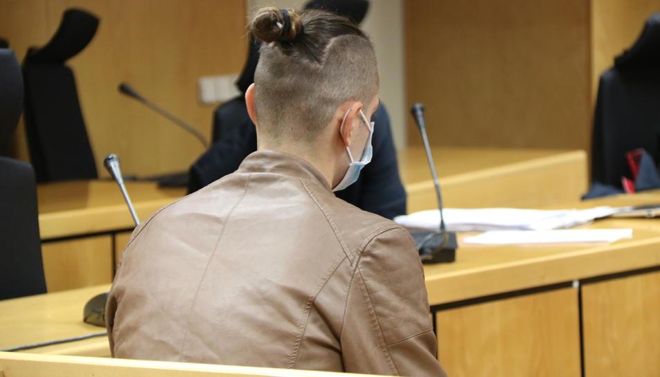 Dani Gallardo, a la sala del tribunal.