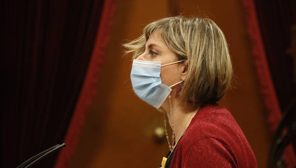 La consellera de Salut, Alba Vergés, durant el ple del Parlament.