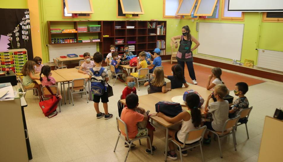 Pla obert d'una classe d'infantil de l'Escola Catalònia de Barcelona
