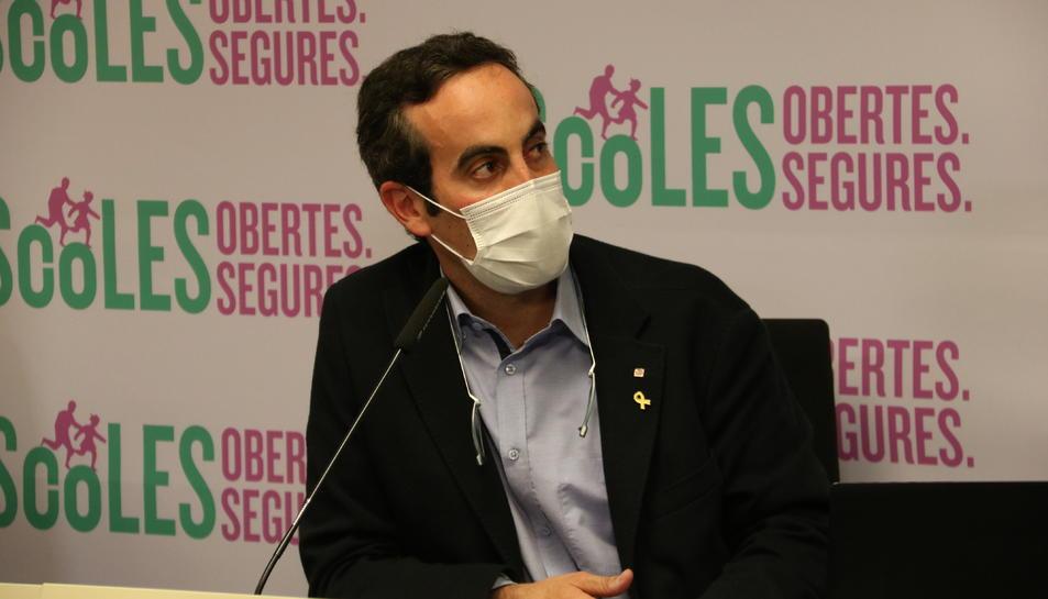 El secretari de Salut, Marc Ramentol, en roda de premsa