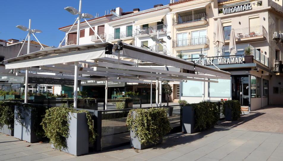El restaurant Miramar de Cambrils tancat