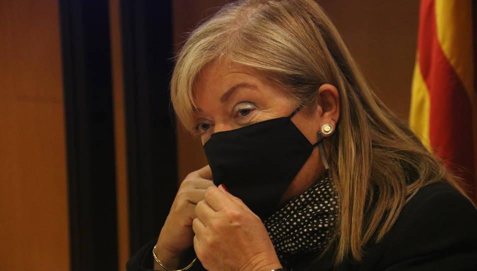 La consellera de Cultura, Àngels Ponsa, a la seu del Departament.