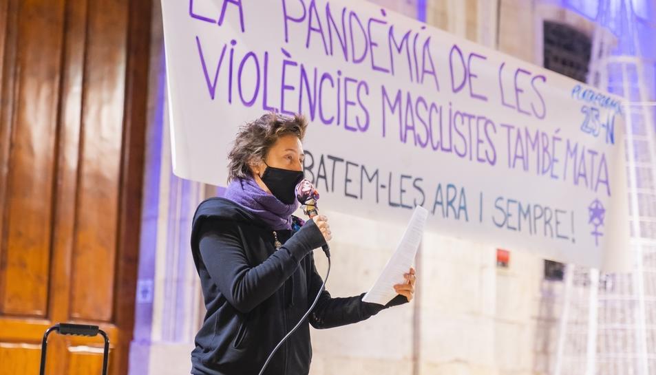 Concentració contra la violencia masclista