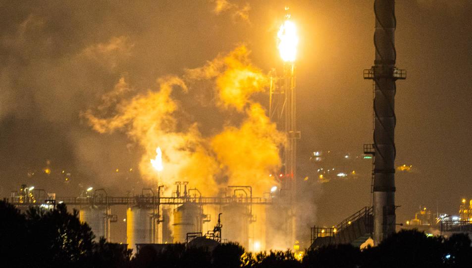 Imatge d'IQOXE la nit de l'accident, el 14 de gener d'enguany.