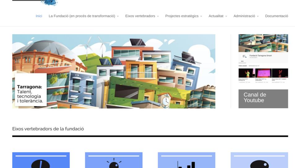 Imatge de la web corporativa de la Fundació Smart Mediterranean City.