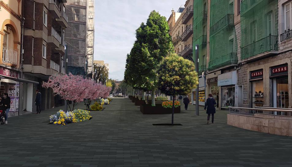 Projecte de com quedarà el carrer Canyelles.