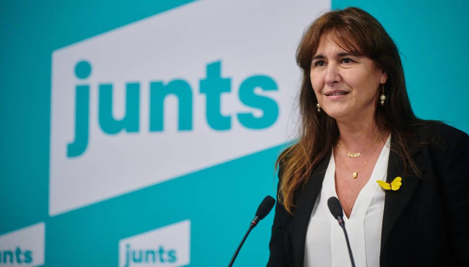 Pla tancat de la presidenciable de JxCat, Laura Borràs.