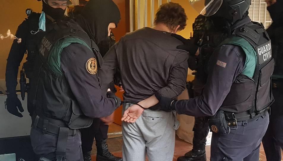 Moment d'una de les detencions.