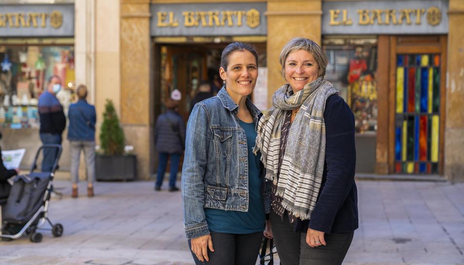 Isabel Barber i Elisabeth Tort, sòcies de Som-hi!, aquest dilluns a Reus.