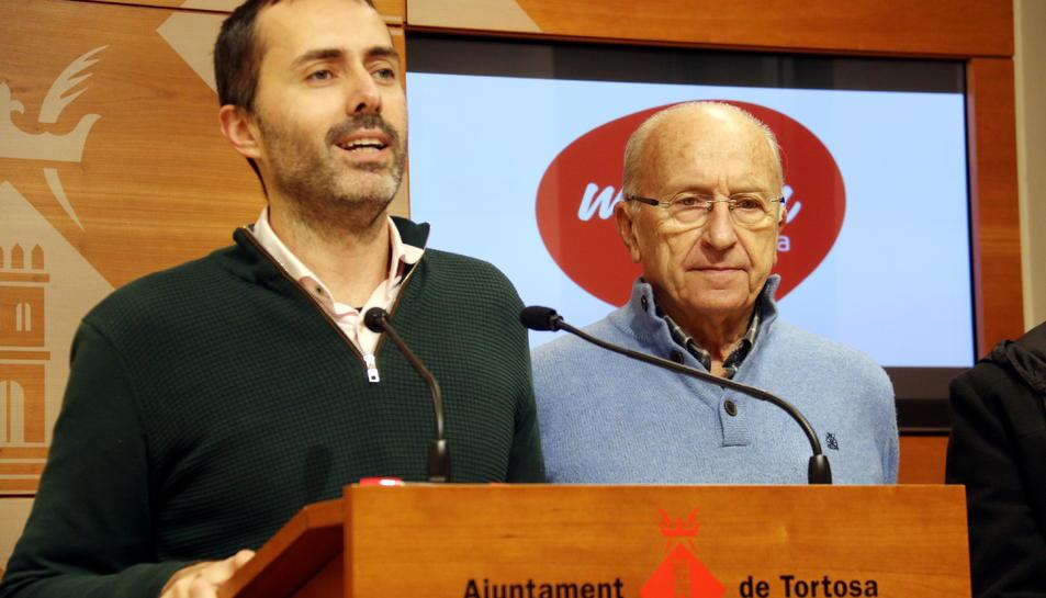 Pla mitjà del portaveu de Movem Tortosa, Jordi Jordan.