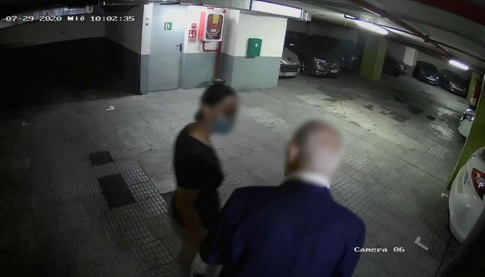 Imatge d'un dels robatoris en un pàrquing el dia 29 de juliol.