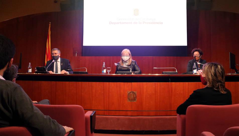 El Palau de la Generalitat va acollir l'acte institucional presidit per la consellera Àngels Ponsa.
