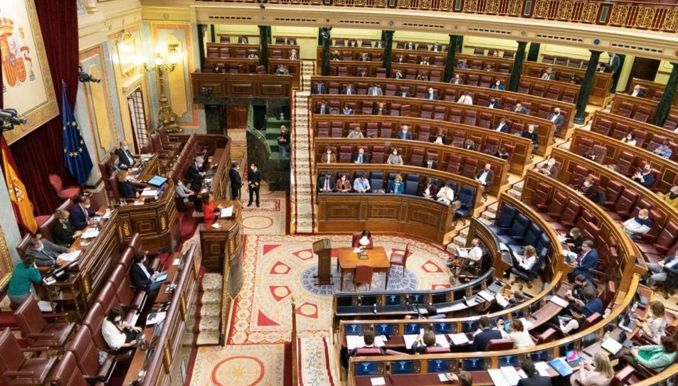 El ple del Congrés dels Diputats, durant el debat de les esmenes a la totalitat dels pressupostos de l'Estat per al 2021.