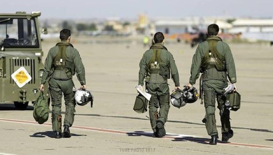 Militares del Ejército del Aire, en una imagen del Ministerio de Defensa. EJÉRCITO DEL AIRE