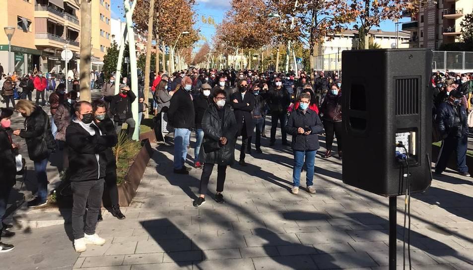 Imatge de la manifestació d'aquest matí a Camp Clar
