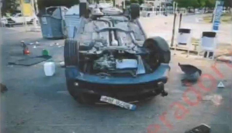 Imatge facilitada durant el judici del vehicle que van utilitzar en l'atemptat a CAmbrils.