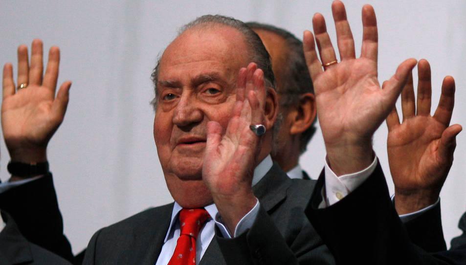 El rei emèrit Joan Carles I, en una foto d'arxiu del 2014,