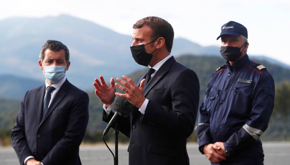 El president francès, Emmanuel Macron, en un acte passat a Pertús.