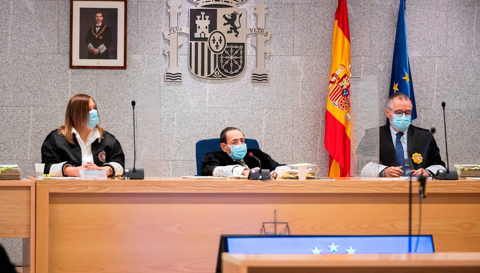 El tribunal de l'Audiència Nacional en el judici dels atemptats de Barcelona i Cambrils.