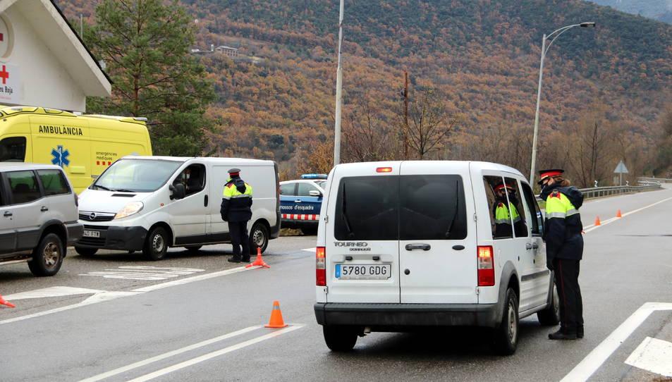 Un control de mobilitat dels Mossos d'Esquadra.
