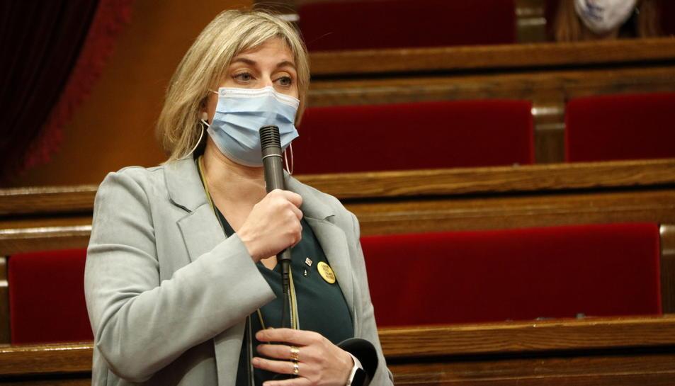 La consellera de Salut, Alba Vergés, durant la sessió de control al Parlament