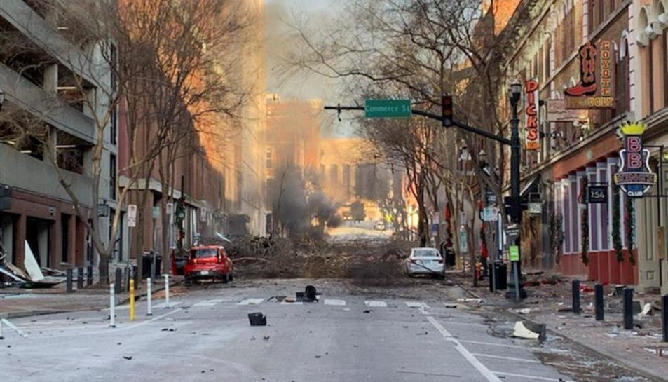Imatge de la zona on s'ha produït l'explosió.