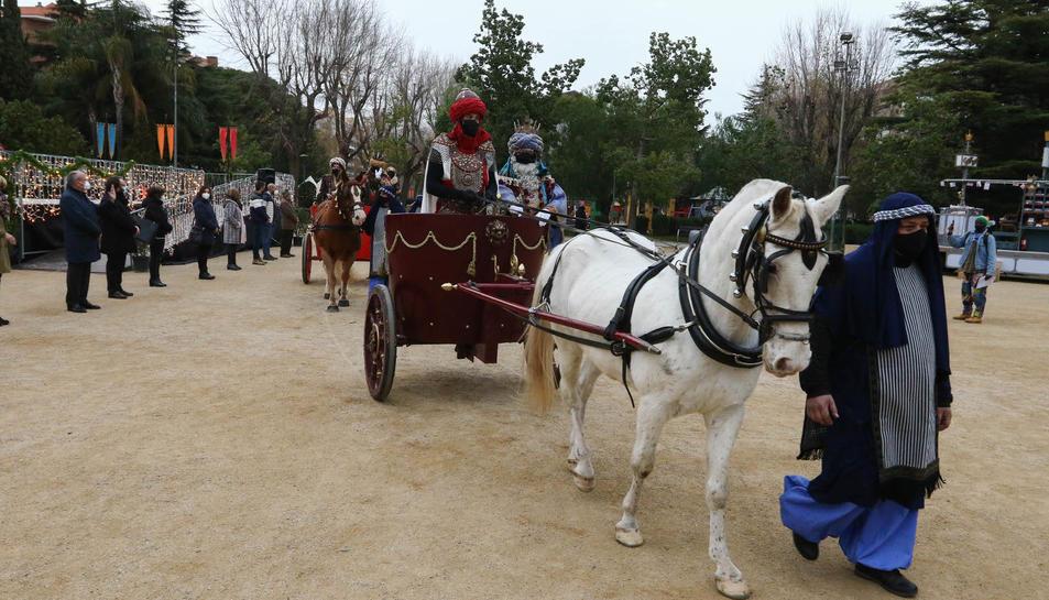 Arribada del Reis Mags al parc Sant Jordi de Reus
