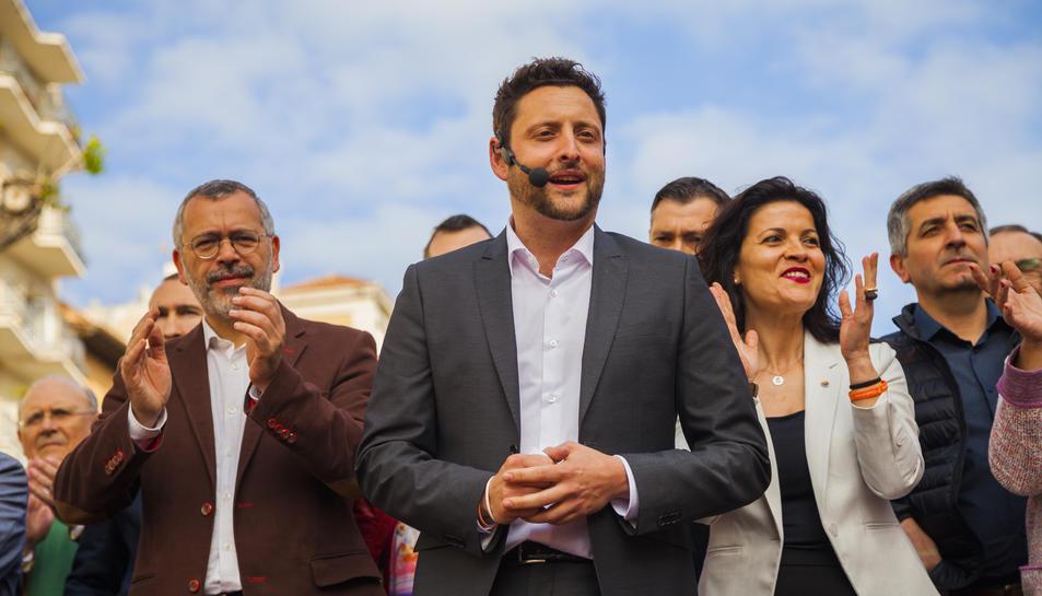 Rubén Viñuales, al centre, en la presentació de la candidatura de Cs a Tarragona el 29 d'abril de 2019.
